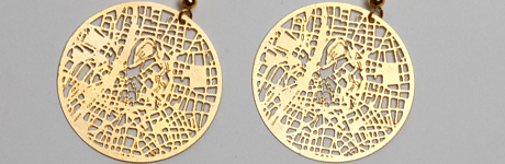 Transforming a Place into Memory Provoking Gold Earrings