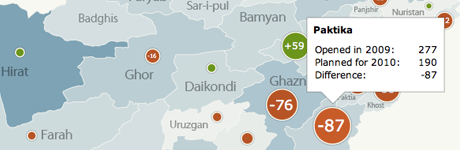 Visualizing the 2010 Afghan Elections