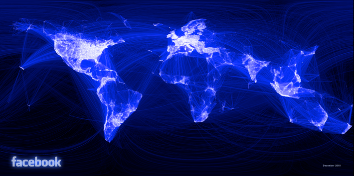 Facebook Friendships Visualized World Map